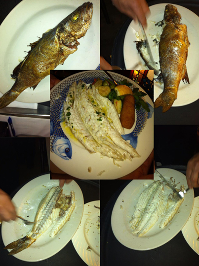 Step by Step Filleted Branzino