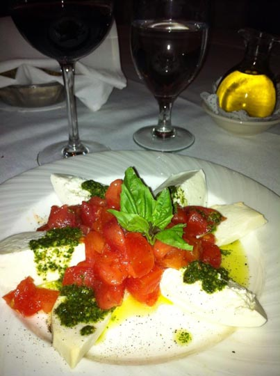 Heirloom and Burrata w_ pesto